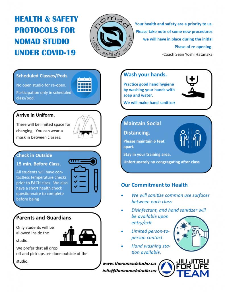 Nomad Studio COVID-19 Protocols
